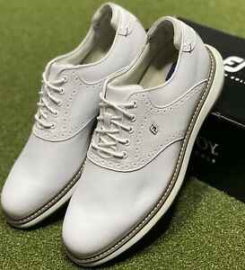 FootJoy 2021 Traditions Golf Shoes 57903 White 11 Wide (2E) New in Box #85700