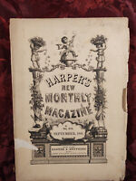 HARPER's September 1881 NORA PERRY ENGLAND THOUSAND ISLES THOMAS HARDY +++
