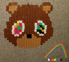 Kanye West Dropout Bear Perler Necklace Rave EDC edm kandi plur