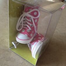 """Adora Pink & White Polka Dot High Tops Sneakers Shoes - 18"""" Dolls"""