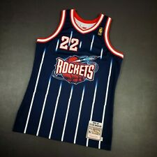 100% Authentic Clyde Drexler Mitchell & Ness 96 97 Rockets Jersey Size 40 M Mens