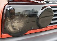 VW GOLF MK2 FRONT HEADLIGHT LAMP PROTECTORS PROTECTIVE COVERS PAIR SMOKED TINTED