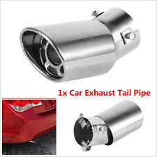 Universal 61mm Bent Stainless Steel Auto Car Tail Exhaust Tip Round Muffler Pipe