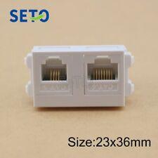 SeTo 128 Type RJ11 Cat3+RJ45 Cat6 Network Module Network Phone Wall Plate Socket