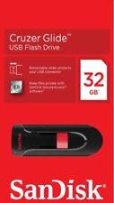SanDisk 32GB 64GB 128GB USB 2.0 Cruzer Glide USB Memory Stick Flash Drive Pen