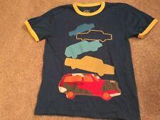 Mini Boden Boys Short Sleeved T-Shirt - Appliqué Cars Aged 9-10 New