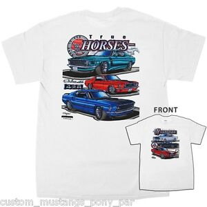 Ford Mustang T Shirt Tee White Men 1964 1965 1966 65 66 Coupe Convertible 289 GT