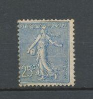France Semeuse N°132 25c Bleu Neuf * Signé Calves TB. Cote 80€. X3590