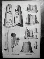 stampa antica old print NORGE NORWAY SVERIGE SWEDEN FINLAND SWOMI MUSIC 1856