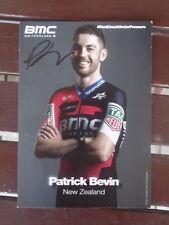 BMC PRO CYCLING TEAM  HANDSIGNED PATRICK BEVIN NEW ZEALAND FANCARD