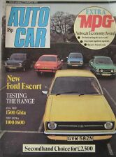Autocar magazine 22/3/1975 featuring Ford Escort road test