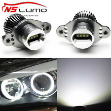 LUX Led Angel Eyes Light  Xenon White BMW E90 E91 Instead Halogen Halo Ring Lamp