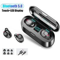 Ture Écouteurs intra-auriculaires Hifi Bluetooth 5.0 TWS sans fil avec micro