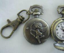 Cupid Coppertone Clip On Pocket Watch Montre Attache Ange Couleur Cuivre