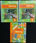 3rd-Making Meaning - TEACHER'S MANUAL VOL 1 & 2 & STUDENT RESPONSE BOOK (2015)