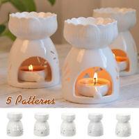 Ceramic Oil Burner Wax Melt Warmer Diffuser Tealight Candle Holder Room Aroma