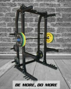 Swiss Barbell Half Rack Power Home Gym Fitness Weight Lifting Commercial Squat