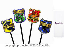 Coco&Bo 10 x Hogwarts Houses Cupcake Picks Harry Potter Theme Party Decoration