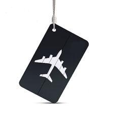 1pc Luggage Tag Aluminum Air Plane Travel Suitcase Name Address ID Label Holder