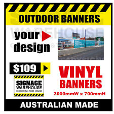 Custom Outdoor Vinyl Banner Sign  - 3000mmW x 700mmH Signage Warehouse