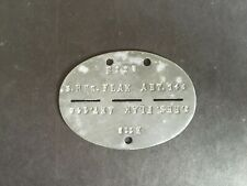 WW2 LUFTWAFFE. 3. RES. FLAK ABT . 146 DOG TAGS  -:-  NON - MAGNETIC. GENUINE.