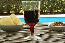 60 PLASTIC WINE GLASSES WHOLESALE 200ml Clear Disposable Cup Flutes Glass Flute
