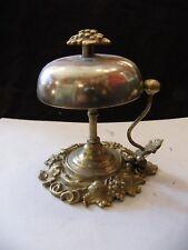 Sonnette de Comptoir de Table en Bronze Ancienne N°1