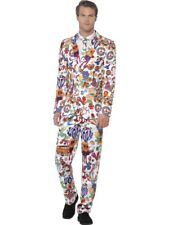 Groovy Stand out Suit – Mens 60s Fancy Dress Costume Hippie Peace Smiffys 24592 L - Large