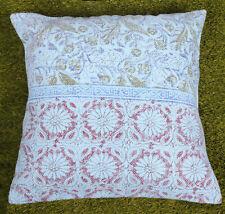 Dari Cushion Cover Handmade Cotton Green Floral Throw Home Decor Pillow Cover