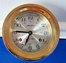 "Vintage German Airguide Brass SHIP'S BELL Maritime Nautical Clock 5 1/4"" Marine"