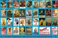 Peddinghaus 1/87 (HO) German Wartime Wall Posters WWII (36 posters) 1575