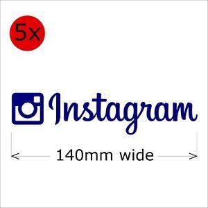 Instagram Stickers, 140 mm wide