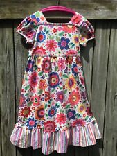 Hanna Andersson Flowers Play Dress - Size 120  ( US size 6x-7 ) Short Sleeve GUC