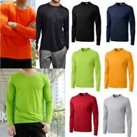 2017 Mens Dri-Fit Long Sleeve Sport Tek Moisture Wicking Workouts T-Shirt Hot