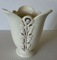 Art Deco Unmarked Art Glass Pottery Vase