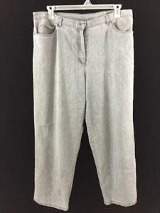 """Ruby Rd jeans size 18 gray 4 pockets side elastic 29"""" inseam"""