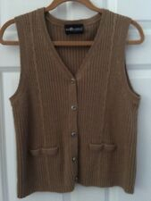 Sag Harbor Size Petite Large Gold Sweater Vest
