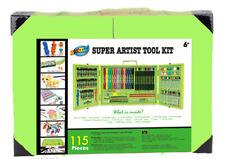 Green Deluxe Art Box Set Unique Design Pencil Crayon Marker Oil pastel Paint
