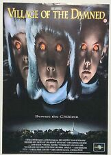 THE VILLAGE OF THE DAMNED / JOHN CARPENTER ORIGINAL VINTAGE VIDEO FILM POSTER /5