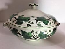 NAPOLEON IVY GREEN Wedgwood ROUND COVERED VEGETABLE Casserole Server Queens Ware