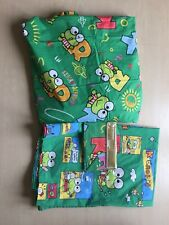 Sanrio Keroppi Twin Sheets and Pillow Cases, Vintage, Top Fitted Green, Kids