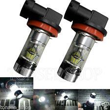 2X H8 H11 6500K 100W LED 20 SMD Cree Projektor Nebelscheinwerfer Glühbirnen HID