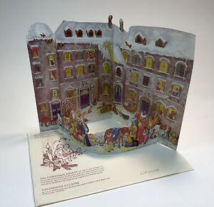Children's Pop-Up Advent Freestanding Paper Calendar LV 8858 W/Glitter Accents