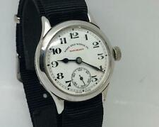VINTAGE 1930s WESTEND WATCH CO MATCHLES ENAMEL DIAL SWISS TRENCH WRIST WATCH