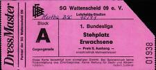 Ticket BL 90/91 SG Wattenscheid 09 - Hertha BSC