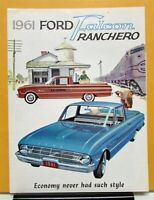 1961 Ford Falcon Ranchero Truck Sales Folder Brochure & Specifications Original