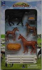 NewRay Country Life Set - 4 Pferde / Fohlen mit Zubehör 1:32 Neu/OVP Bauernhof