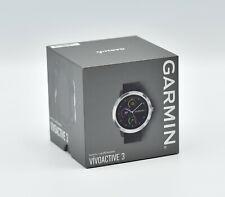 GARMIN vívoactive 3 Smartwatch Silikon, 127-204 mm, GPS Schwarz/Silber NEU OVP