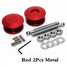 Red 2pc Push Button Billet Hood Pins Lock Clip Kit Car Quick Latch Engine Bonnet