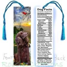 "Boykin Spaniel Bookmark 6"" Fun Nutrition Facts Label Field Dog Pet Keepsake Card"